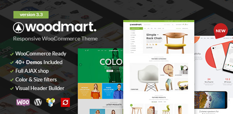 WoodMart – 响应 WooCommerce主题中文汉化版发布