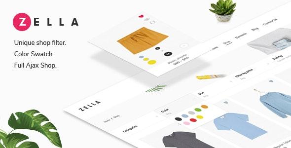 Zella – 创意电商WooCommerce AJAX主题 + RTL支持中文汉化发布