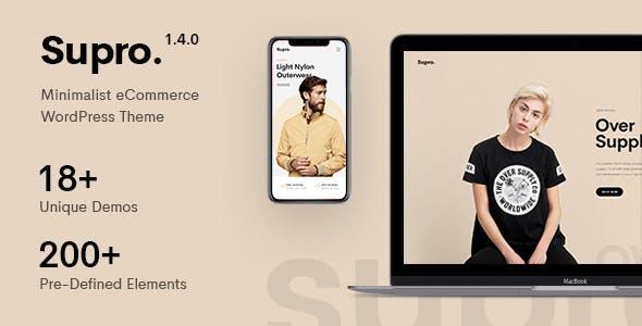 Supro – 极简主义的AJAX WooCommerce WordPress主题中文汉化发布